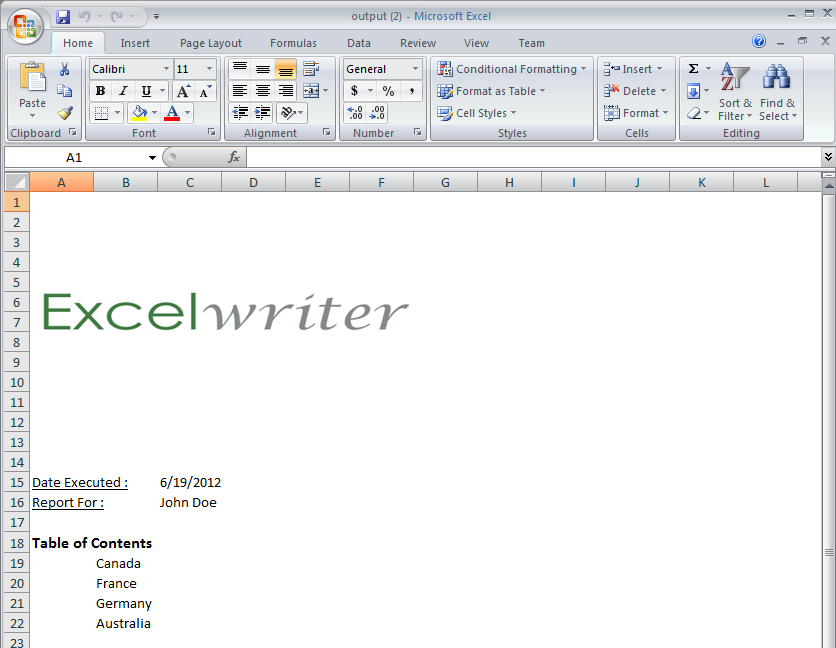 Part 2 Creating A Cover Sheet Excelwriter V8 Docs Officewriter
