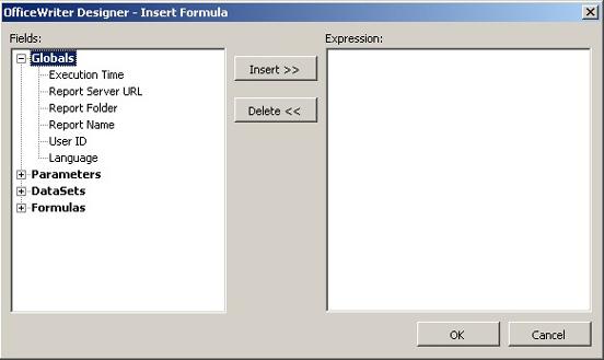 Adding Formulas to an Excel Report - SSRS Integration v8